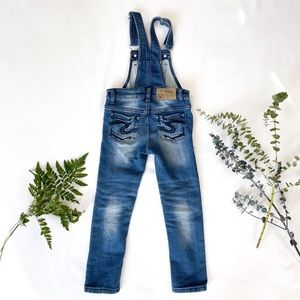 5T Girls Silver Jean Overalls